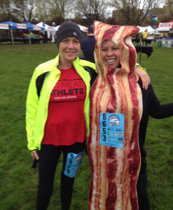 Left to right: No Meat Athlete and Mel Ortiz (Bacon) Photographer: Tim Fraser