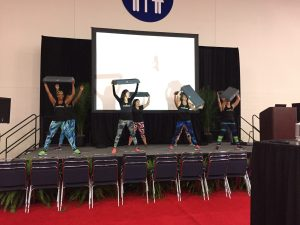 Race expo exercise demonstration
