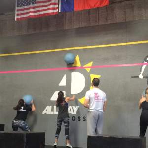 Wall balls at my first CrossFit competition