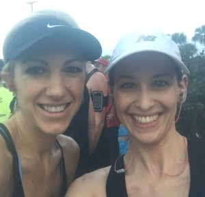 Clear Creek 5K: Melissa & me
