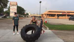 Running and crossfitting and flipping tires
