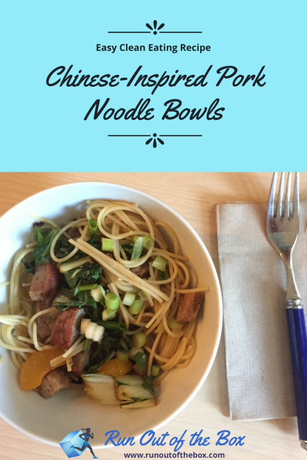 This easy, healthy pork noodle bowl recipe can be made with leftover pork tenderloin for an easy weeknight dinner. | clean eating | easy healthy recipes | Healthy pork recipes #cleaneating