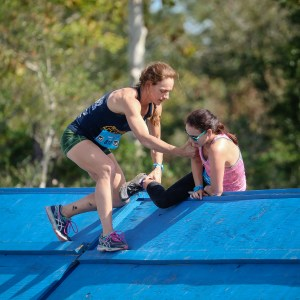 Savage Race Houston: Coach Holly being an amazing coach