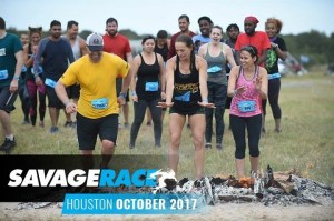 Savage Race Houston: Warmth by the fire