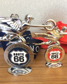 Route 66 Half Marathon & 5K Finisher Medals
