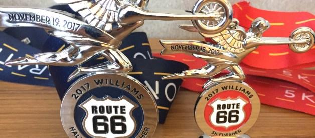 Route 66 Half Marathon & 5K Finisher Medals