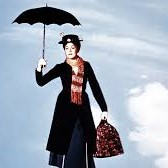 mary poppins flies with her unbrella