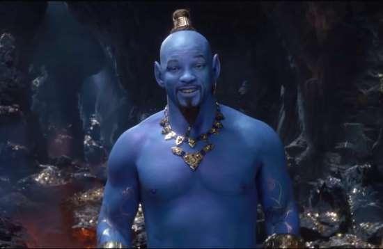 will smith as the aladdin genie