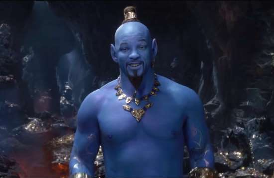 will smith as the aladdin genie