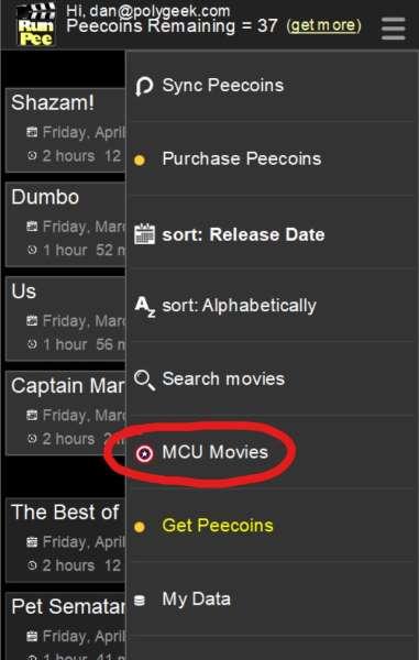 MCU Movie List