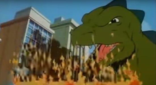 godzilla from the animate tv series