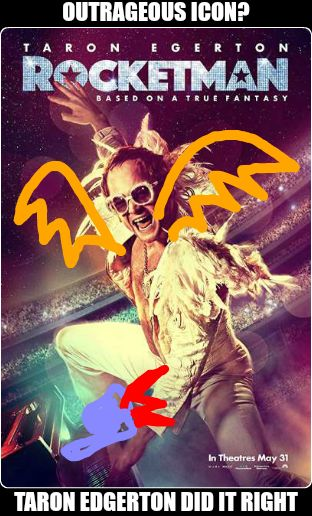 RunPee movie meme of rocketman