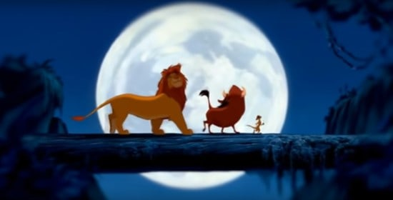 the lion king log scene