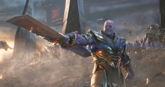 thanos in avengers endgame with his sword