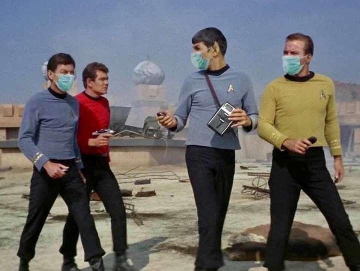 Star Trek covid19 mask meme