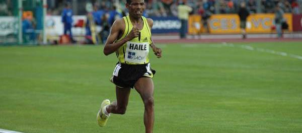 Haile Gebrselassie would make large steps forward in World Record times
