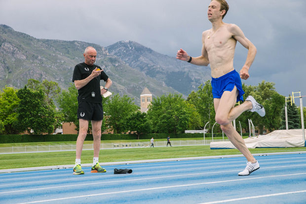 Rupp training with Salazar in Park City, Utah