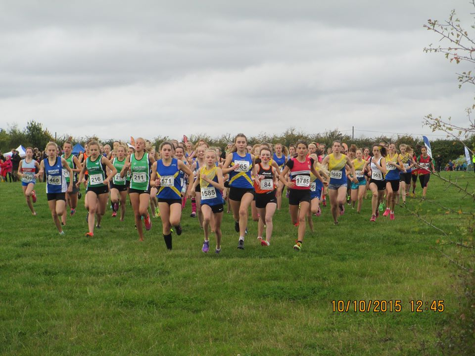 Start of the U15 Girls Race