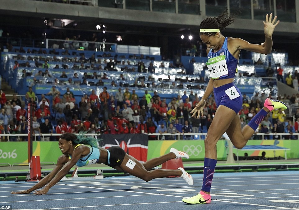 Allyson Felix failed to defend her 400m title