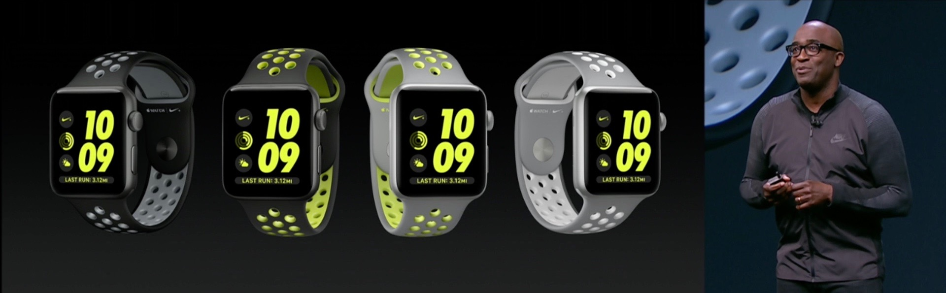 Various versions of the Apple Watch Nike+
