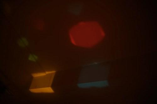 イロイロファクトリー 天井に投影して大きくなった彩りある形