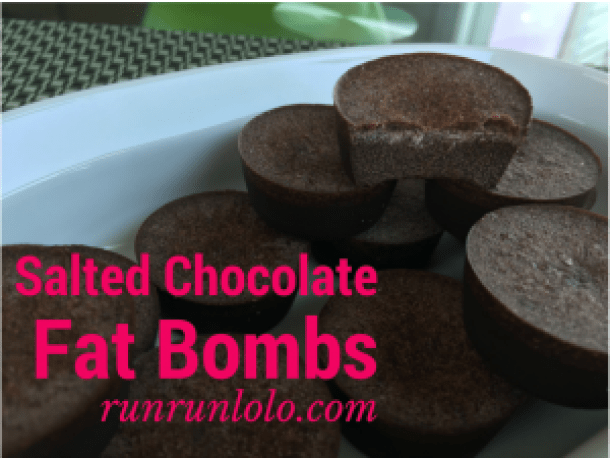 Salted chocolate fat bombs by runrunlolo.com