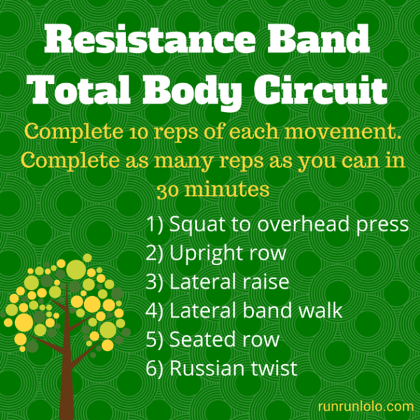 Resistance Band Total Body Circuit from runrunlolo.com