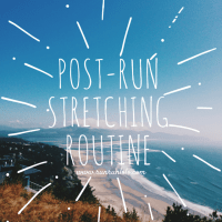 Post-run stretching routine
