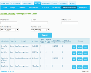 Referal Tracking Reports