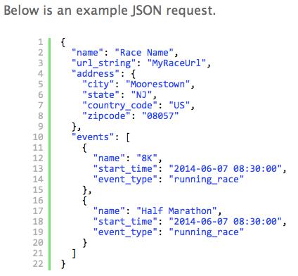 Create Race API