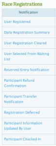 Registration Notification Settings