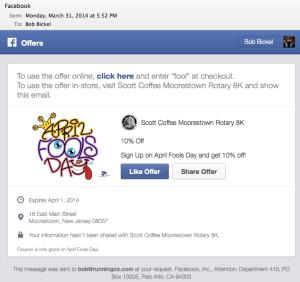 Facebook Offer Email