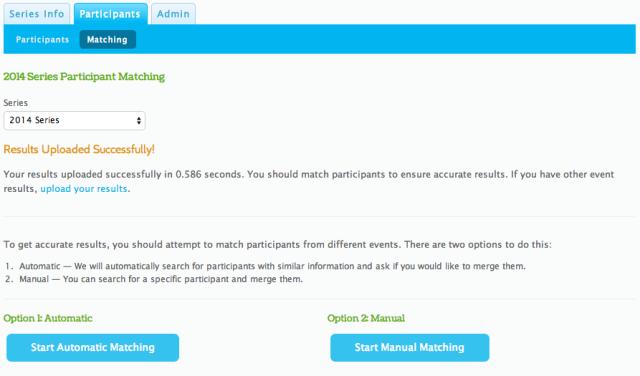 Series Scoring Participant Matching