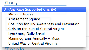 Multiple Charity Selection and Searching