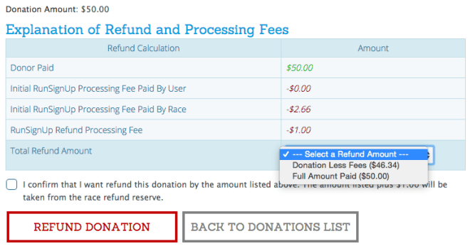 Donation Refund