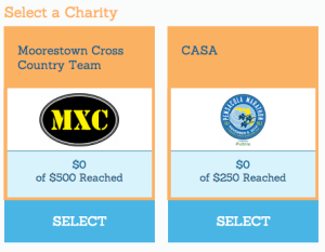 Charities During Registration
