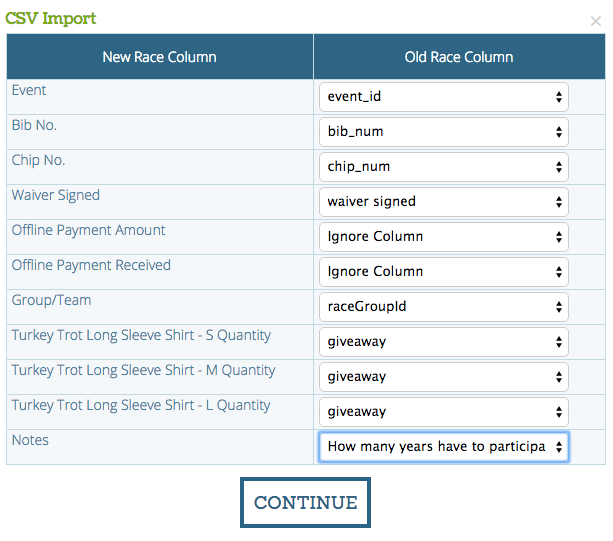 Import Data Match