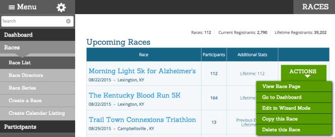 Partner Race list