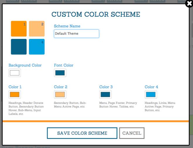 Race Website Custom Color