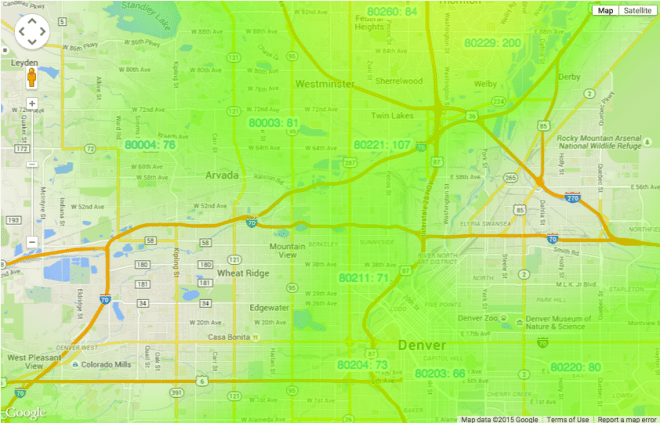 Denver Zipcodes