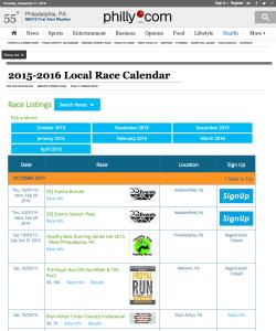 Philly.com Race Calendar