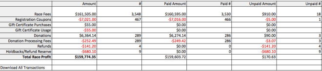Excel Financial Summary