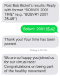Virtual Race TXT Service