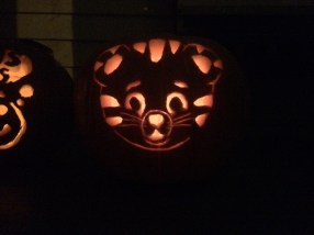 ...and then Mom stayed up way too late carving Daniel Tiger.