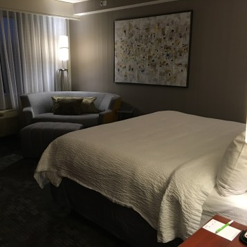 Our nice hotel room at the Courtyard by Marriott