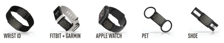 If you don't wear a Garmin, there are other ROAD iD options including IDs that come on a band, IDs for Apple Watch users, IDs for pets, and even IDs that you can wear on your shoes!
