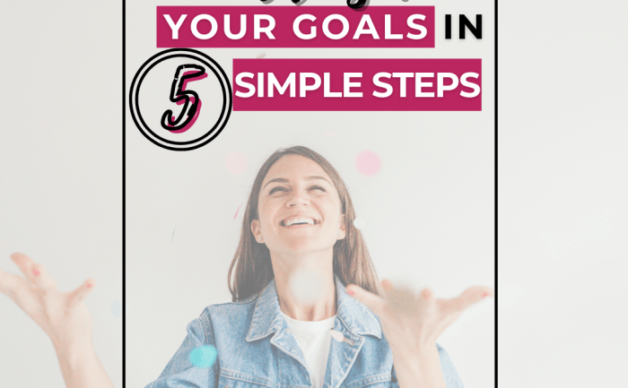How to Crush Your Goals in 5 Simple Steps