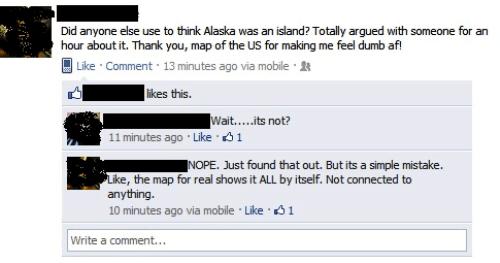 Dumbest Facebook Posts Alaska Island