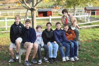 Bedford Scout Troop #129 served as the Kids Run The Farm course marshalls
