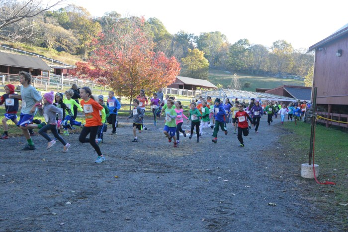 Start of 7-12 Year Old Kids Race (photo by Faith Willett)